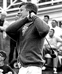 Not many golfers played as well as John F. Kennedy before a back injury slowed his game down. (AP)
