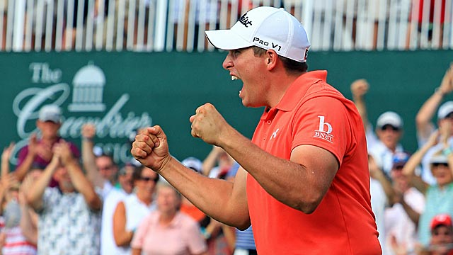 Scott Stallings became the feel-good story of last year's Greenbrier Classic. (Getty Images)