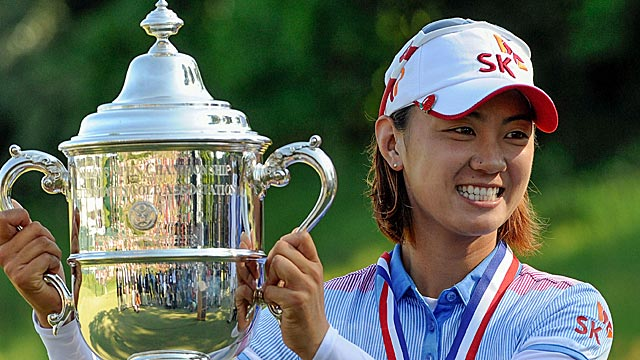 Na Yeon Choi dances around a triple bogey to win by four strokes. (US Presswire)