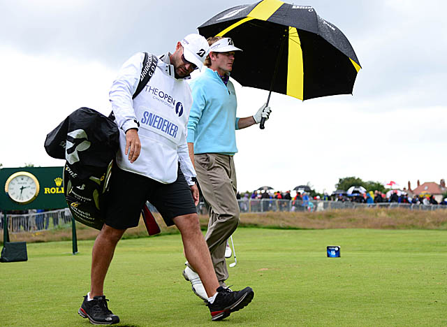 Despite bad weather early Friday, Snedeker again easily navigated Lytham's narrow fairways. (US Presswire)