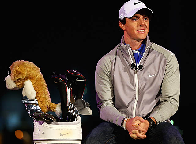 In Abu Dhabi for this week's tournament, McIlroy is unveiled as the new face of Nike. (Getty Images)