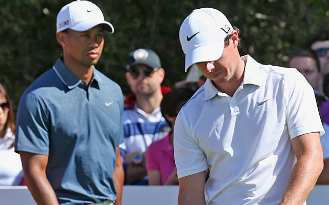 Tiger Woods and Rory McIlroy shoot 75, sending the world's top two players home early. (Getty Images)