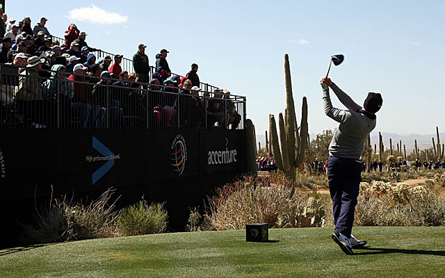 Mahan, teeing it up Sunday, has a chance to join Tiger Woods with consecutive wins. (Getty Images)