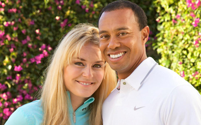 Tiger Woods and Lindsey Vonn, the happy couple together. (Tiger Woods/Lindsey Vonn)