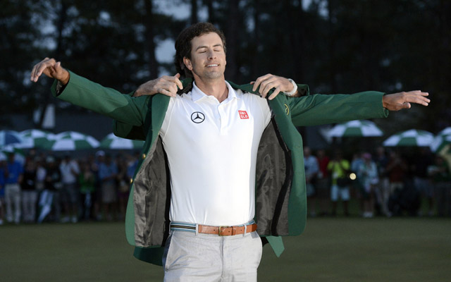 Adam Scott wears the green jacket from Bubba Watson (USATSI)