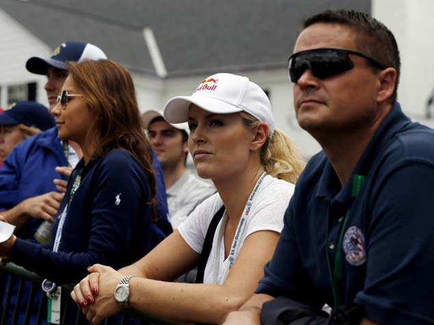 Lindsey Vonn follows boyfriend Tiger Woods at 2013 US Open. (NY Daily News)