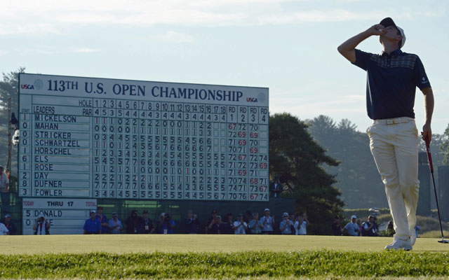 Justin Rose overcomes his share of misadventures on a US Open course that challenged all comers. (USATSI)