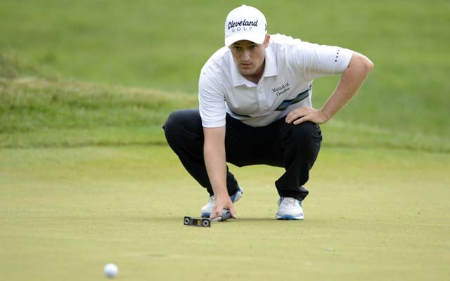 Russell Knox shot a 59 Friday, the second such score on the Web.com Tour this month.