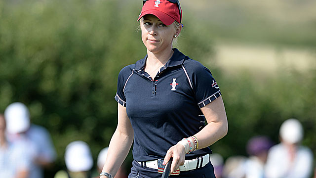 Morgan Pressel accounts for the lone point for the US, which has never lost the Solheim Cup on home soil. (USATSI)