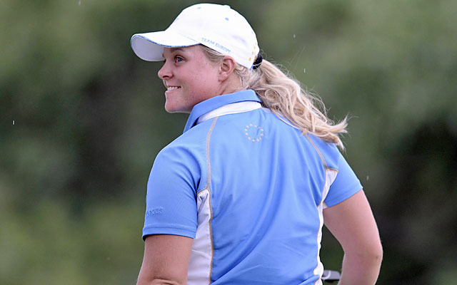 Hedwall birdies on the 18th to become the first in Solheim Cup history to win all five of her matches. (USATSI)