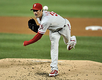 Cole Hamels wins his fourth straight decision, allowing four runs, three earned, on eight hits in six-plus innings. (USATSI)