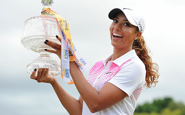 Cheyenne Woods lives up to the famous name, clinching her victory with a birdie at the 18th. (Getty Images)