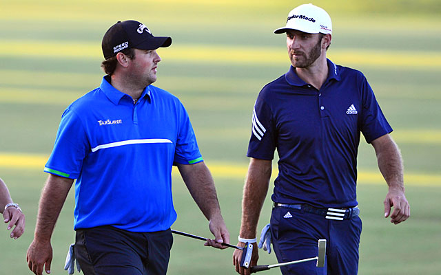 Patrick Reed outplays playing partner Dustin Johnson, carding a 3-under 69 to Johnson's 73. (USATSI)