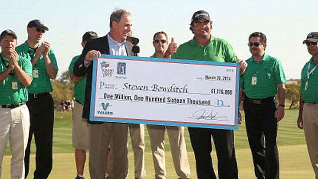 Steven Bowditch banks more than $1.1 million for his first Tour win. (USATSI)