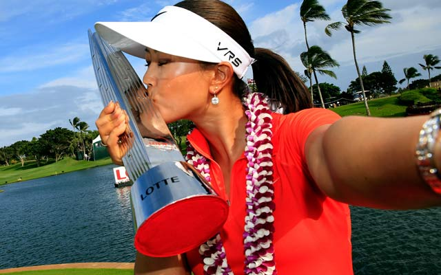 Michelle Wie gets her third LPGA win and first since 2010. (Getty Images)