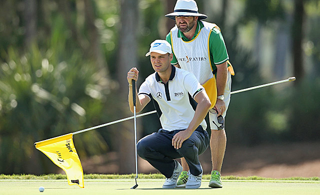 Kaymer and caddie Craig Connelly make all the right reads Thursday. (Getty Images)