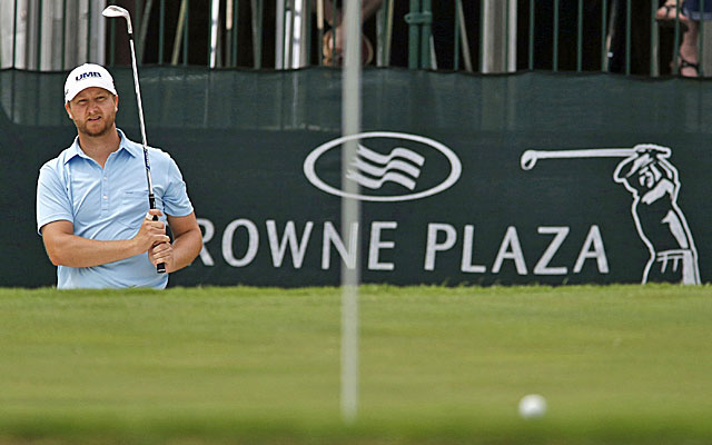 Tour rookie Brice Garnett leads the field at Colonial by one stroke. (Getty Images)