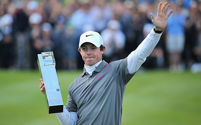 Seven behind when the day began, Rory McIlroy shoots a 6-under 66 to win at Wentworth. (Getty Images)