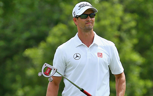 Adam Scott's putter keeps him in the playoff on the second hole before clinching the victory. (Getty Images)