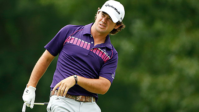 Brian Harman has two eagles en route to a 65 in the third round. (Getty Images)