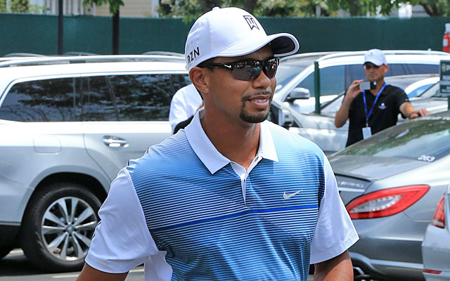 Four-time winner Tiger Woods arrives at Valhalla and gets ready to play in the PGA Championship. (Getty Images)
