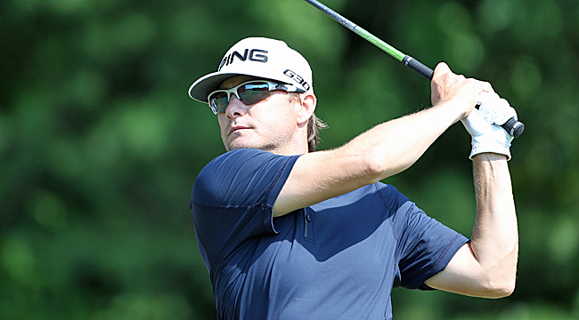 Heath Slocumb is among the leaders at the Wyndham Championship. (Getty Images)