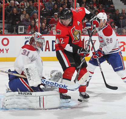 Montreal's Carey Price saves 19 shots to record his first shutout since November 2008. (Getty Images)