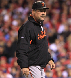 Bruce Bochy's Giants prepare to fight for baseball history. (Getty Images)