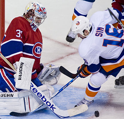 Carey Price, who has started all of Montreal's games so far, stops 18 shots. His record is 6-2-1 to this point. (AP)