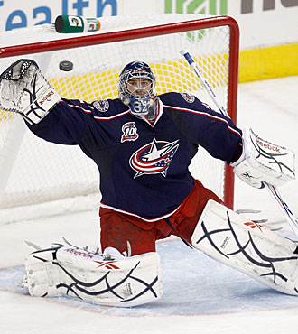 Mathieu Garon has won his last two starts by shutout and is 4-0 for Columbus. (Getty Images)