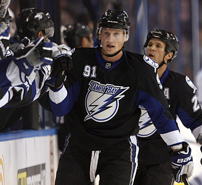 Steven Stamkos has six goals and seven assists in nine career games against the Maple Leafs. (US Presswire)