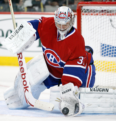 Carey Price stops 41 shots against the Flyers and nabs his third shutout of the season.  (US Presswire)