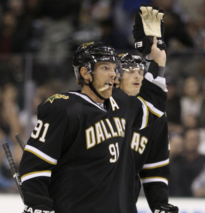 Brad Richards reacts after scoring the go-ahead goal in the third period against the Ducks. (US Presswire)