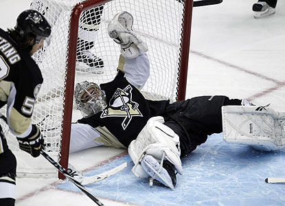 Marc-Andre Fleury, who lost his starting job earlier, is 7-0-1 with a 1.60 GAA in the past eight games. (AP)