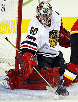Marty Turco and the defending champ Blackhawks aren't a lock for the playoffs. (AP)
