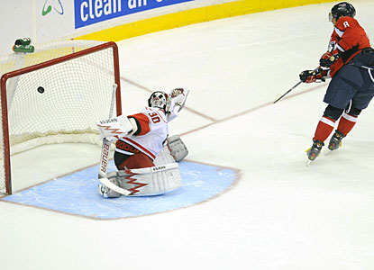 Alexander Ovechkin takes care of business against Cam Ward to give Washington the full points. (US Presswire)