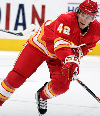 One Sutter who is no longer in Calgary is Darryl's son Brett Sutter, who was traded to Carolina. (Getty Images)