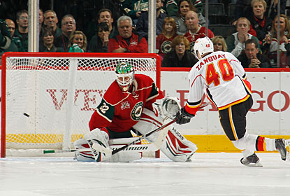 Alex Tanguay steps up big for Calgary on this night, scoring in regulation and in the shootout. (Getty Images)