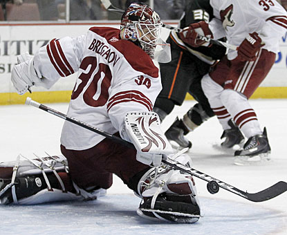 Ilya Bryzgalov stops 26 shots to shut out the Ducks for the third time since he was let go by Anaheim. (AP)