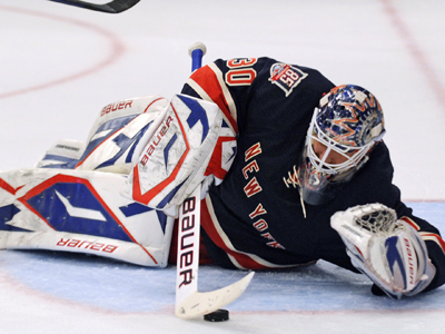 Henrik Lundqvist's 31 saves against the Capitals is good enough to nab him his fifth shutout of the season. (Getty Images)