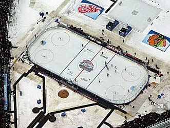 The NHL hopes for -- and has generally received -- wintry weather for the Winter Classic. (US Presswire)