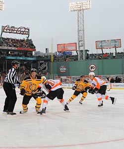 The Winter Classic at Fenway Park was another hit for the NHL to start the year. (Getty Images)