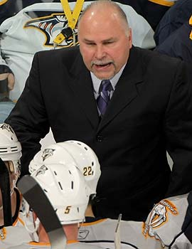 The Preds stick with their original coach Barry Trotz despite little success. (Getty Images)