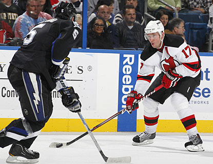 Ilya Kovalchuk scores two goals in a game for the Devils for just the second time this season. (Getty Images)
