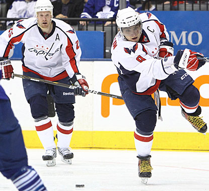 After struggling to score for the better part of the season, Alex Ovechkin breaks out with three against the Leafs. (US Presswire)