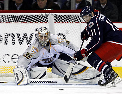 Blue Jackets rookie Matt Calvert needs just 20 games to record his first career three-goal game in the NHL. (AP)
