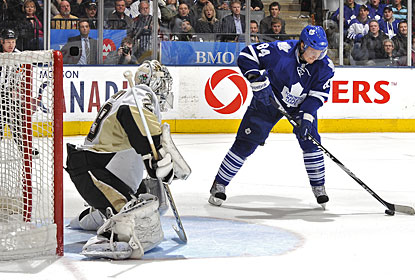 Mikhail Grabovski gets it done for the Maple Leafs just 42 seconds into the overtime period. (Getty Images)
