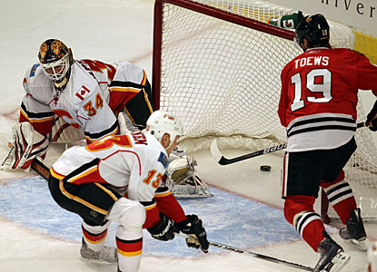 Jonathan Toews scores at least two goals in a game this season for the fifth time. (Getty Images)