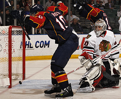 David Booth scores his 20th goal of the season to help the Panthers halt a season-high five-game losing streak. (AP)