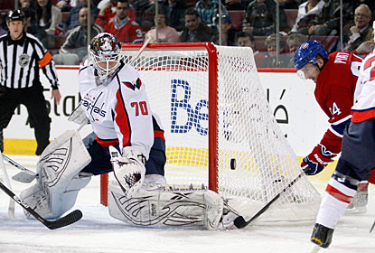 Braden Holtby seems to be on his game right now as he stops 24 shots for his fifth consecutive win. (Getty Images)